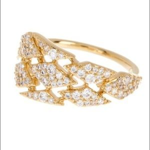 NWOT NADRI Luminous CZ Slanted Ring - Size 7